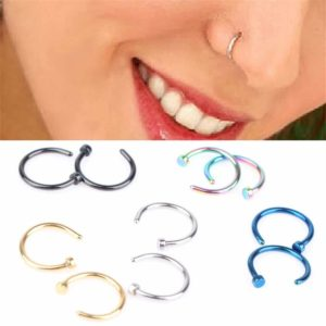 Clip On Nose Ring Hoop