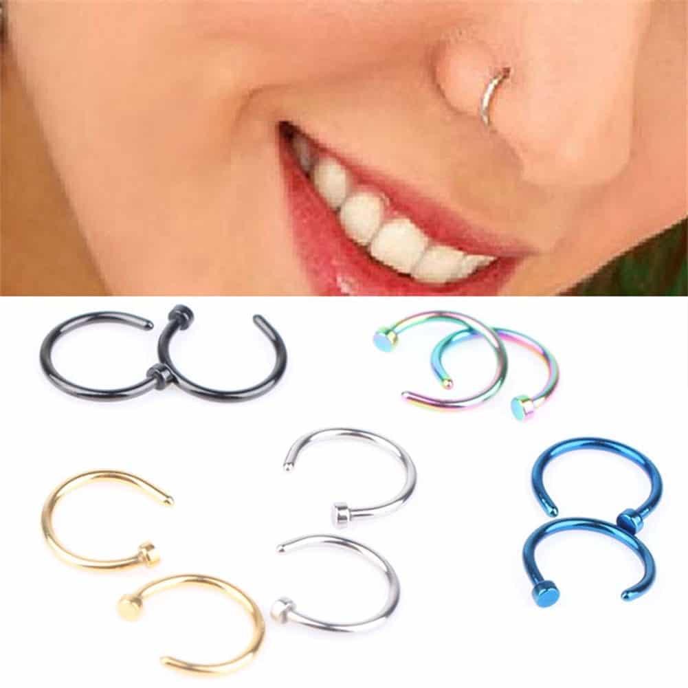 Clip On Nose Ring Hoop With Up To 75 Off Rhalyns