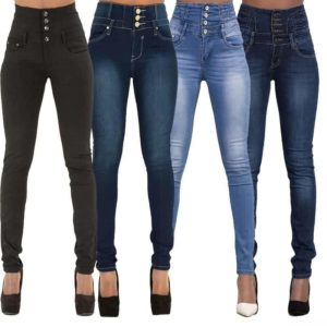 Denim Pencil Pants Stretch Jeans
