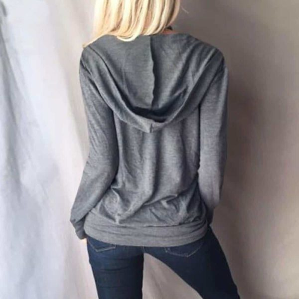 Long Sleeve Hollow Out V-Neck Sweatshirts 1