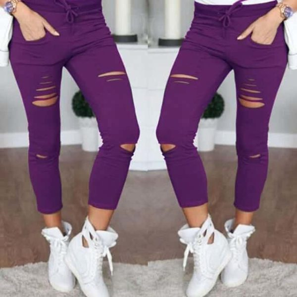 Ripped Skinny Jeans Casual Women 2