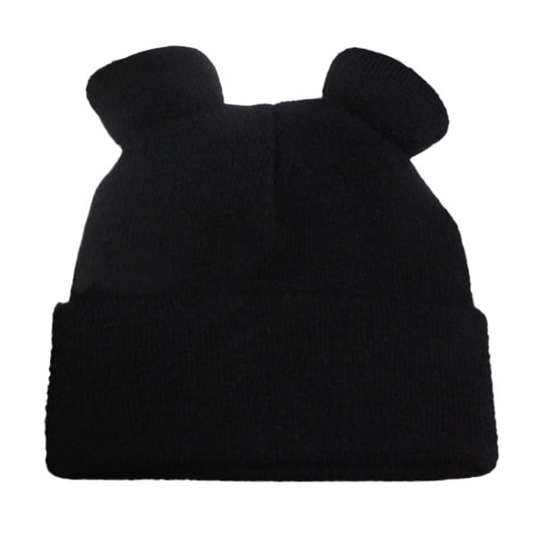 Knitted Braid Hat With Ears 8