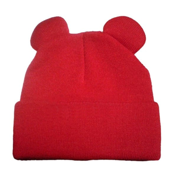 Knitted Braid Hat With Ears 10