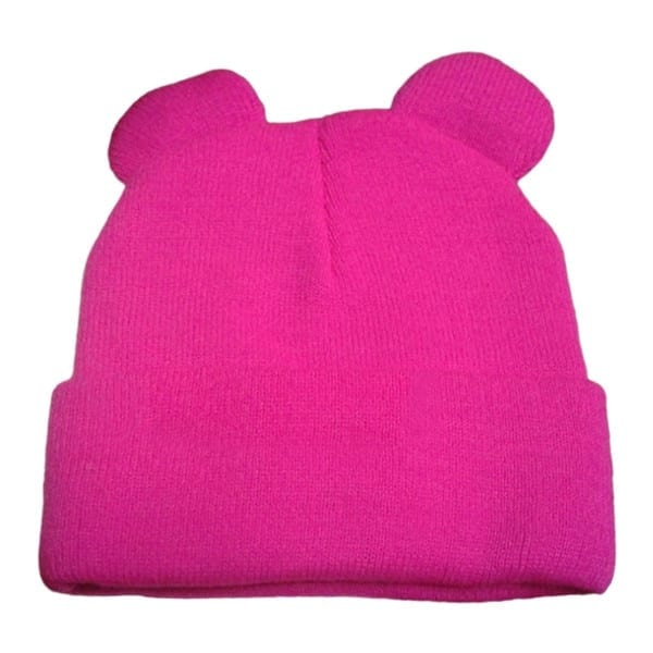 Knitted Braid Hat With Ears 11