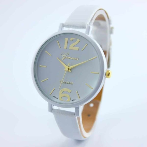 Luxury Ladies Watch With Leather Colorful 2