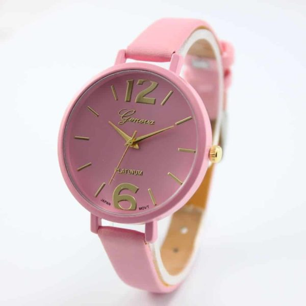 Luxury Ladies Watch With Leather Colorful 3