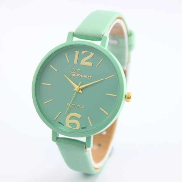 Luxury Ladies Watch With Leather Colorful 9