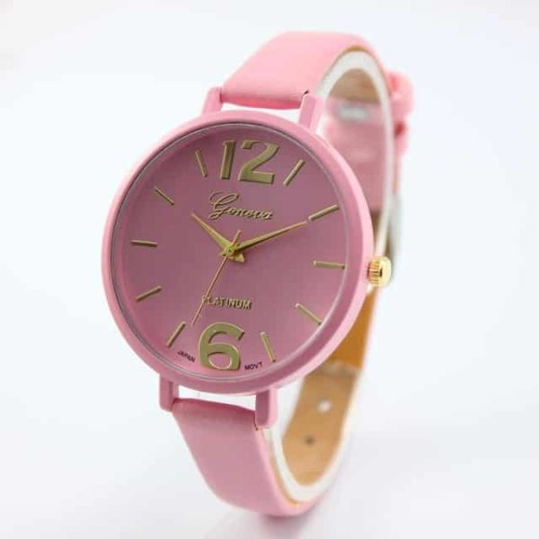 Luxury Ladies Watch With Leather Colorful 10