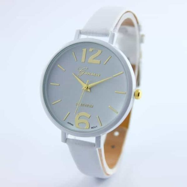 Luxury Ladies Watch With Leather Colorful 11