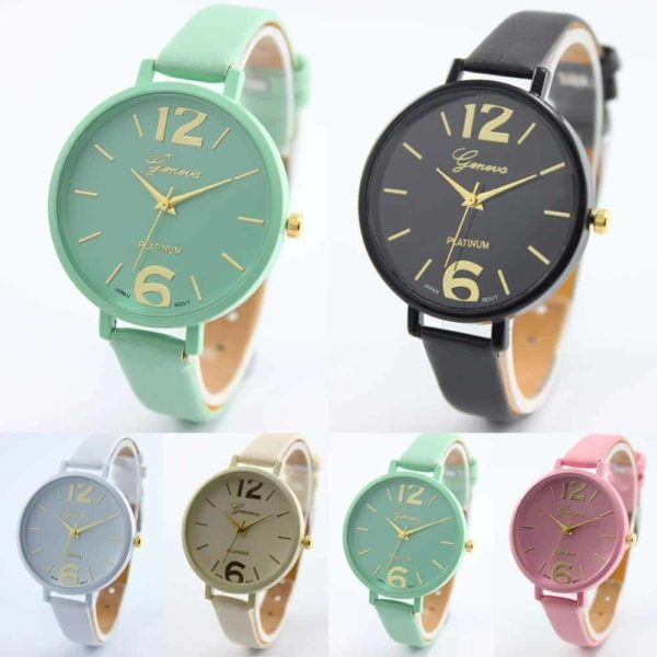 Luxury Ladies Watch With Leather Colorful 6