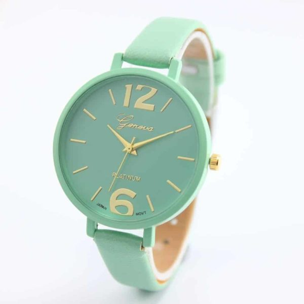 Luxury Ladies Watch With Leather Colorful 1