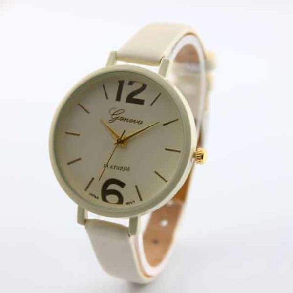 Luxury Ladies Watch With Leather Colorful 7