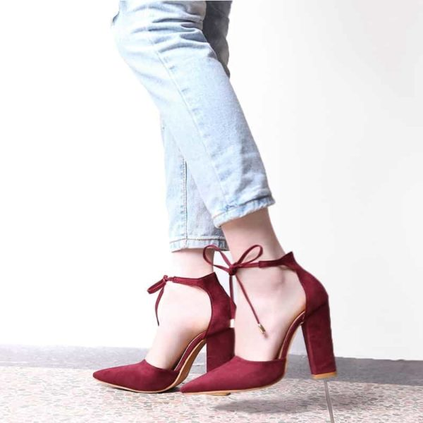 Strappy Pumps Sexy Retro High Thick Heels Shoes 2