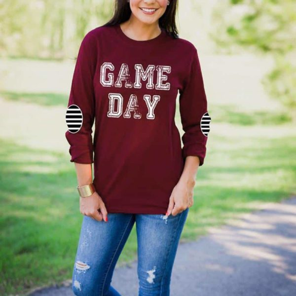 Game Day Elbow Patch Printed T-Shirt 1