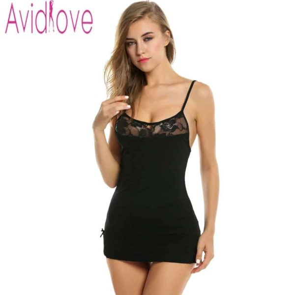 Sexy Nightgowns Lace Bodycon Stretch 1