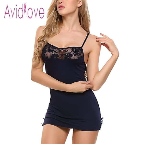 Sexy Nightgowns Lace Bodycon Stretch 5