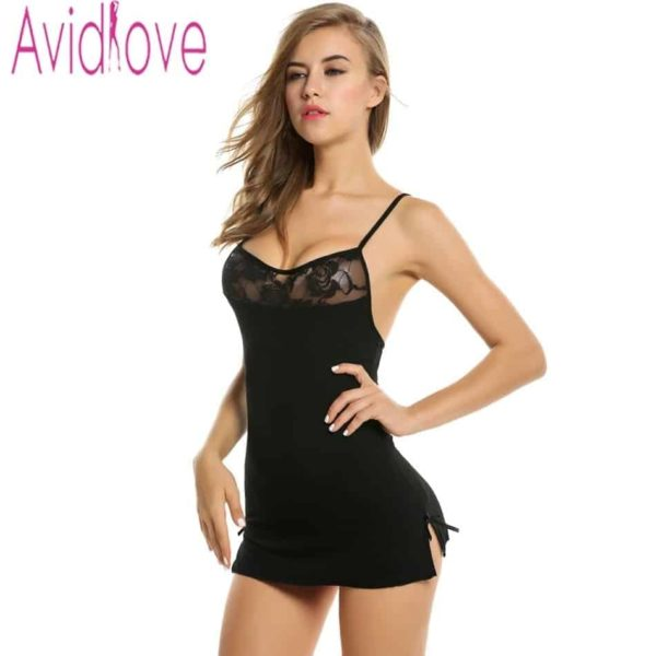 Sexy Nightgowns Lace Bodycon Stretch 2