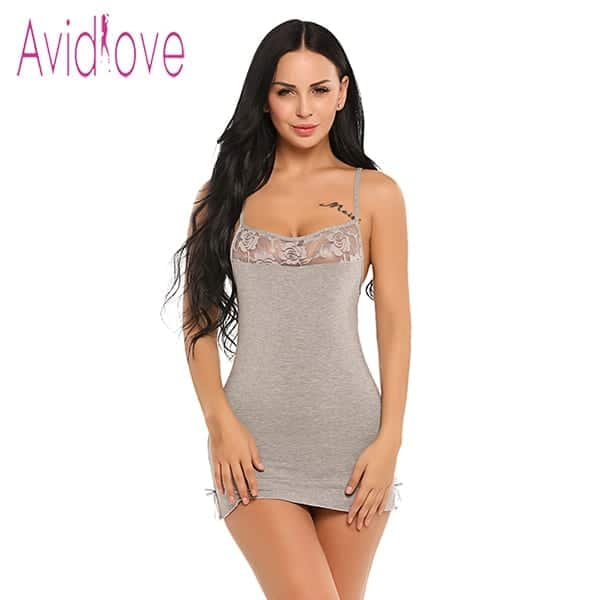 Sexy Nightgowns Lace Bodycon Stretch 8