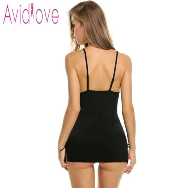 Sexy Nightgowns Lace Bodycon Stretch 3