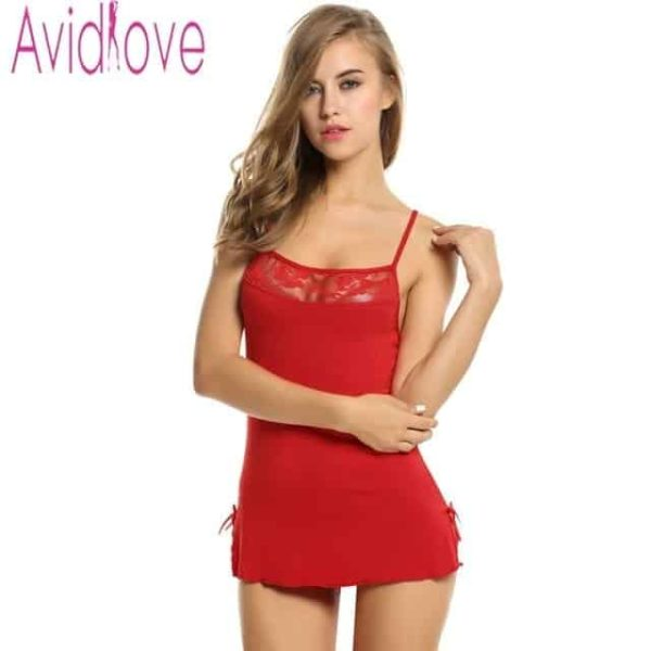 Sexy Nightgowns Lace Bodycon Stretch 7