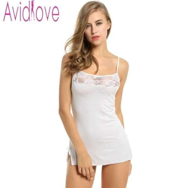 Sexy Nightgowns Lace Bodycon Stretch 9