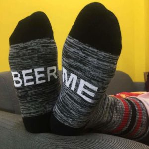Funny Gift Sports Beer Me Warm Socks