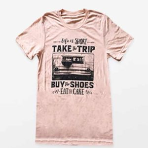 Life is Short Take the Trip Vintage Short Sleeve Shirt