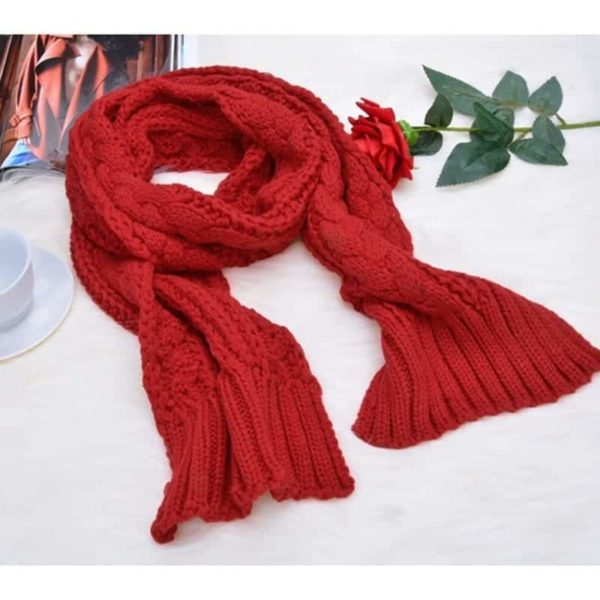 Fashion Womens Knit Handmade Hat and Scarf 2