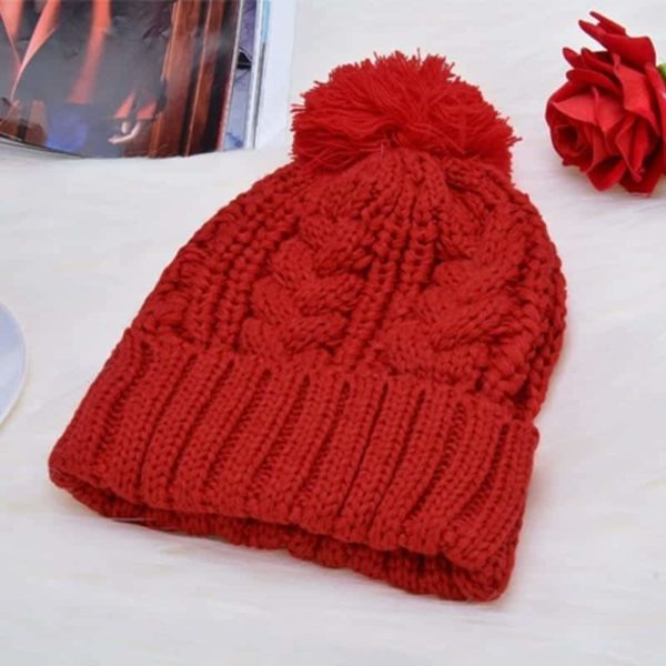 Fashion Womens Knit Handmade Hat and Scarf 4