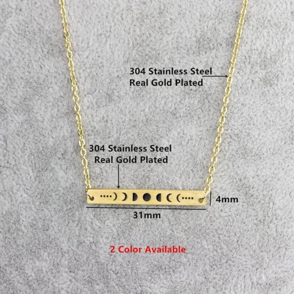 New Celestial Moon Phases Necklace 2