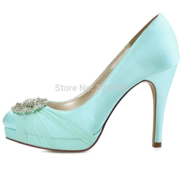 Mint Heels Wedding Shoes