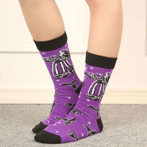 Witch Letter Printed Socks 2