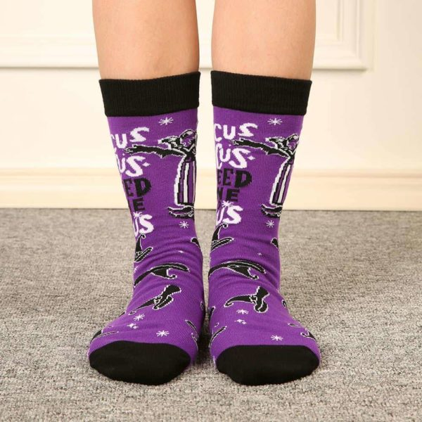 Witch Letter Printed Socks 3