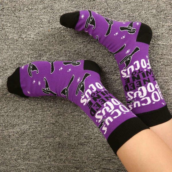 Witch Letter Printed Socks 5
