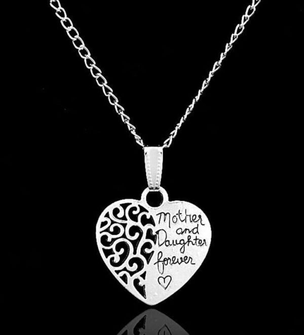 Mother And Daughter Forever Heart Pendant 1