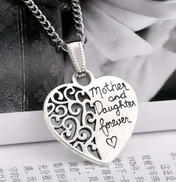 Mother And Daughter Forever Heart Pendant