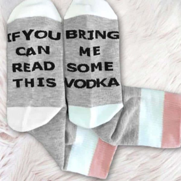 If You Can Read This Bring Me Some Vodka Funny Women's Socks 1