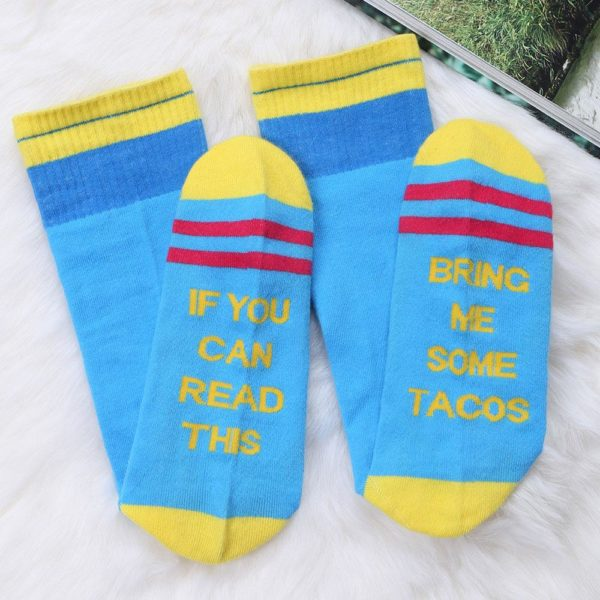 If You Can Read This Bring Me Some Tacos Women Socks 2