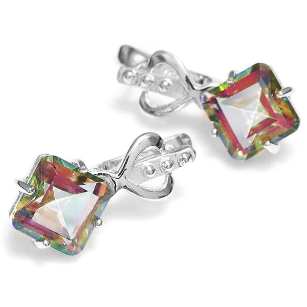 Jewelry Palace 8ct Rainbow Fire Mystic Topas Earrings 2