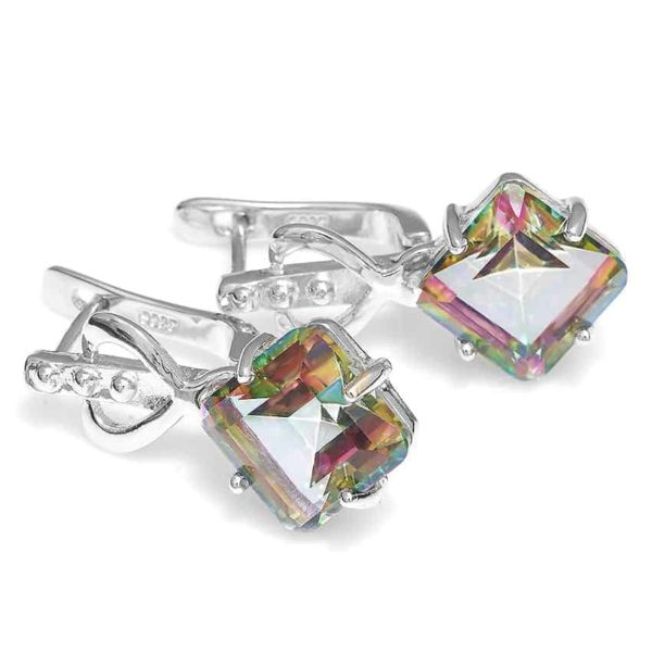Jewelry Palace 8ct Rainbow Fire Mystic Topas Earrings 3