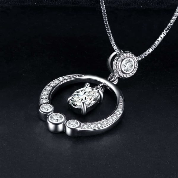 Jewelry Palace Circle 1.3ct Cubic Zirconia Pendant Necklace 2