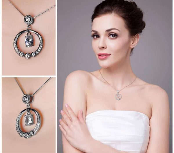 Jewelry Palace Circle 1.3ct Cubic Zirconia Pendant Necklace 3