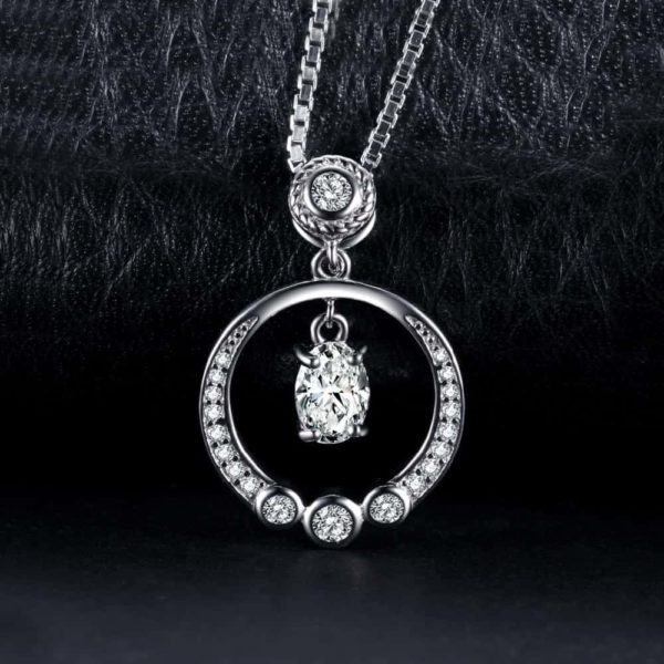 Jewelry Palace Circle 1.3ct Cubic Zirconia Pendant Necklace 4