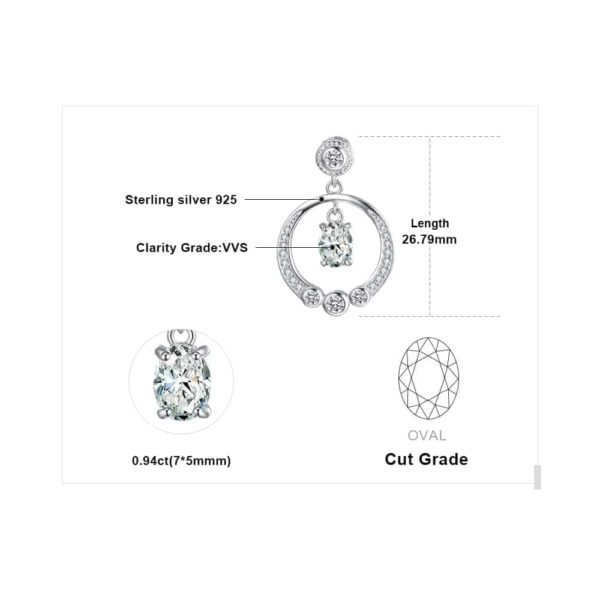 Jewelry Palace Circle 1.3ct Cubic Zirconia Pendant Necklace 5