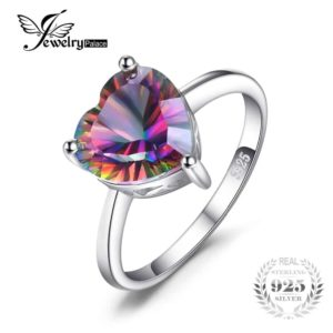 Jewelry Palace Heart 2.65ct Genuine Rainbow Fire Mystic