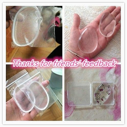 KITTY Makeup Foundation Silicone Blender Puff Transparent 4