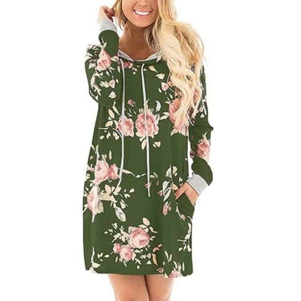 LASPERAL New Floral Dress Green