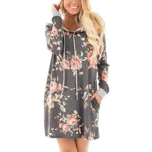 LASPERAL Hooded Dress
