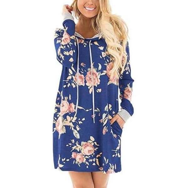 LASPERAL New Floral Dress Blue