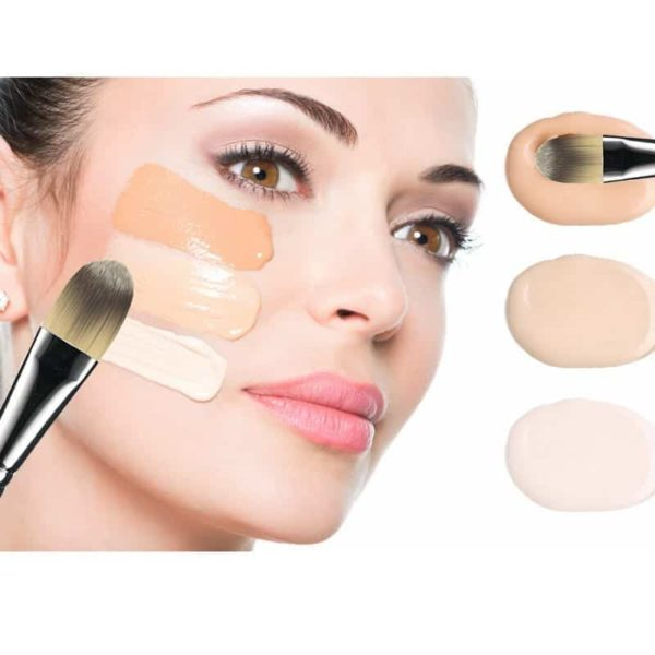 Face Brush Flat Foundation Cream Brush Blender Makeup Brushes 5